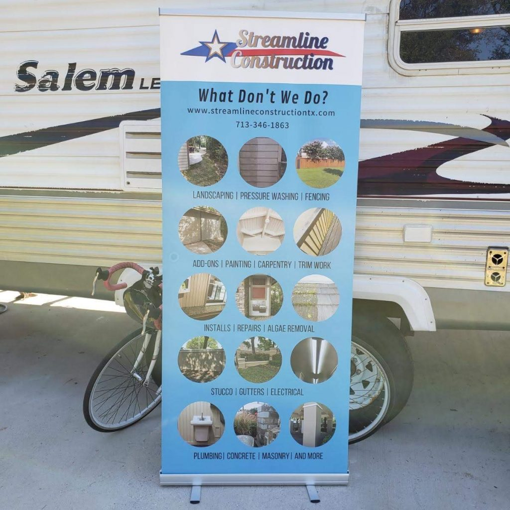 Streamline Construction Retractable Banner
